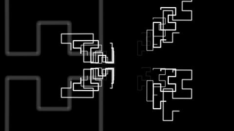 Hilbert Curve Step 4 Cut 3 stock footage
