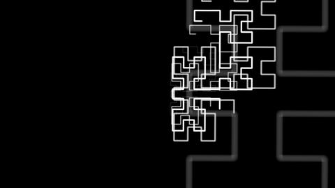 Hilbert Curve Step 4 Noncut 5 stock footage