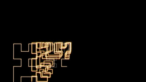 Hilbert Curve Step 4 Noncut 8 stock footage