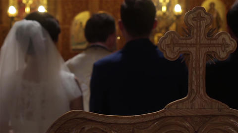 Priest officiating religious ceremony 02 Footage