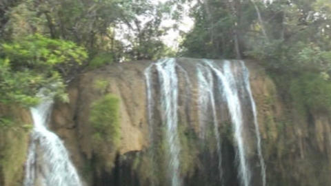 Small Waterfall On The River Kwai stock footage