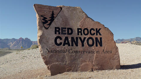 Red Rock Canyon Desert, Nevada , USA 4K UHD stock footage