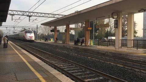 Fast Train stock footage
