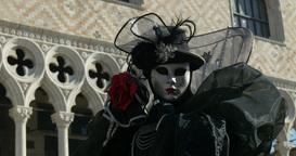 Venice mask Doge Palace 02 Footage