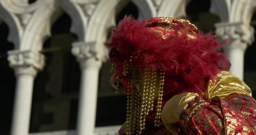 Venice mask Doge Palace 05 Footage