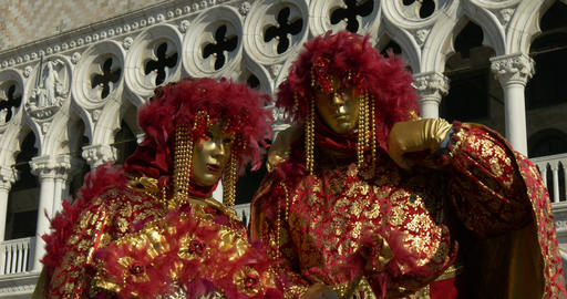 Venice mask Doge Palace 03 Footage