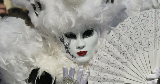 Venice Mask 01 stock footage