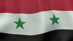 4K UltraHD Loopable waving Syrian flag animation Animation