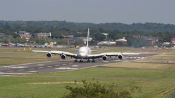 Wide body jet landing Footage