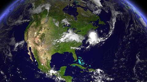 Hurricane Hitting New York / USA / East Coast stock footage