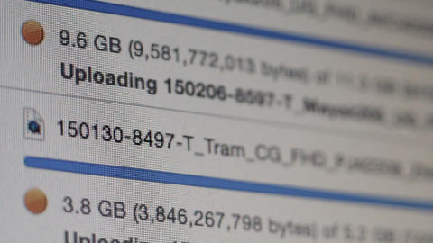 Ungraded: Uploading Data stock footage