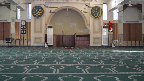 Mosque Empty ( Masjid ) inside Short Footage