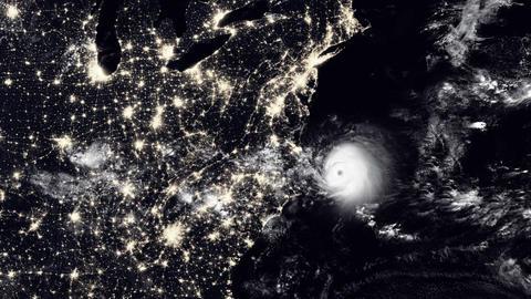 Hurricane North Carolina / USA Animation
