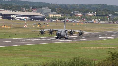 A400m Land Taxi stock footage