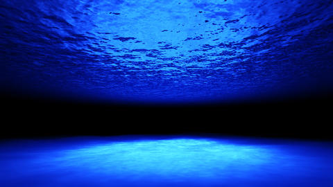3d underwater ocean and reflection caustic CG動画