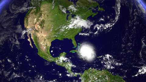 Hurricane Planet Dom. Republic / Jamaica / Haiti / Cuba Animation