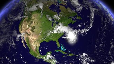 Hurricane Planet South Carolina Animation