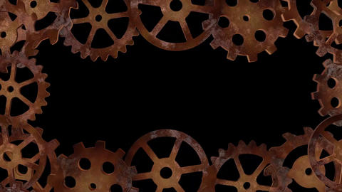 Steampunk Rotating Gears / Cogs Frame Animation