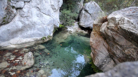 stream in mountains during low water periods Footage