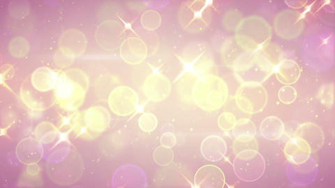 bright circle bokeh and stars festive loopable background Animation