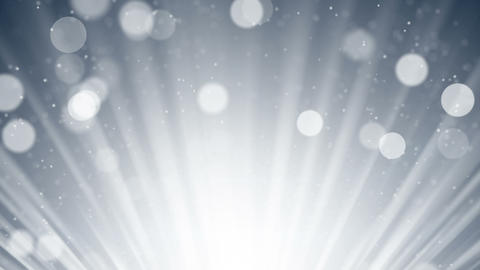 silver rays and bokeh circles abstract loopable background Animation