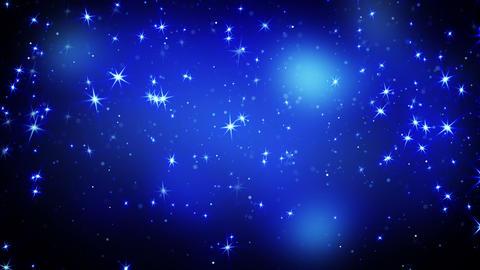 shining stars on blue falling loopable 4k (4096x2304) Animation