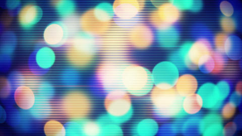 circle bokeh lights loopable techno background Animation