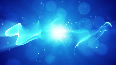 flowing energy blue abstract loop background Animation