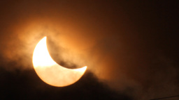 Solar Eclipse 2015 stock footage