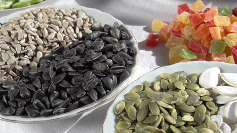 Different Types of Nuts and Seeds Footage