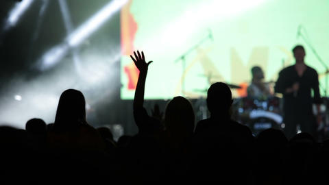 Rock Concert And The Audience stock footage