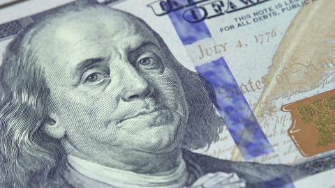 Cash 100 Dollar Bills Footage