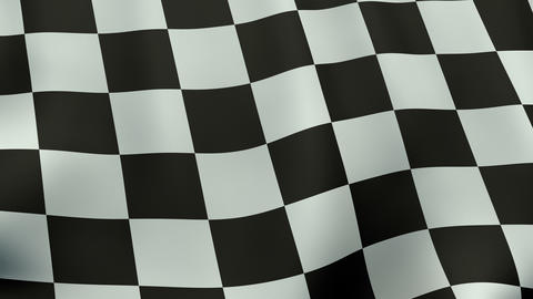 4K UltraHD Loopable waving checkered flag animation Animation