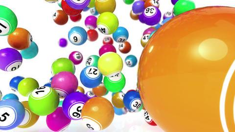 Falling Bingo Balls Stock Video Footage