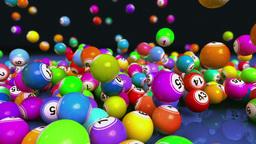 Falling Bingo Balls Animation