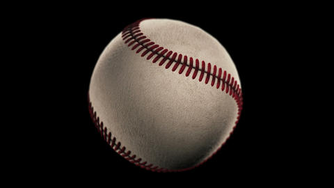 BaseBall, loop seamless, isolated black backgraund Animation