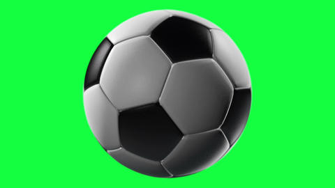 Soccer Ball, loop seamless, isolated on green screen Animation