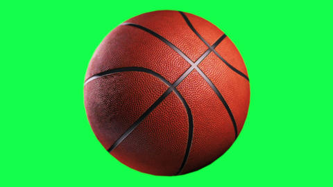Basketball, loop seamless, isolated on green screen Animation