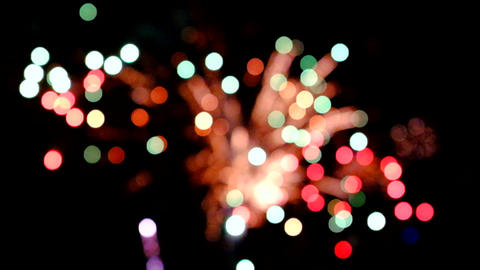 Colorful fireworks Footage