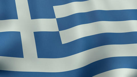 4K UltraHD Loopable waving Greek flag animation Animation