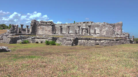 Mayan Ruins - Main Hall - Epic Shot stock footage