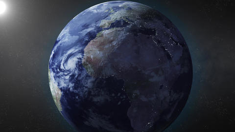 Earth animation zooms in on North Africa Animation