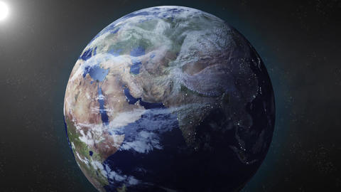 Earth animation zooms in on Russia Animation