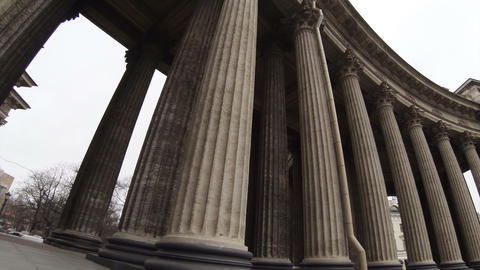 Columns of the Kazan Cathedral in St. Petersburg Footage