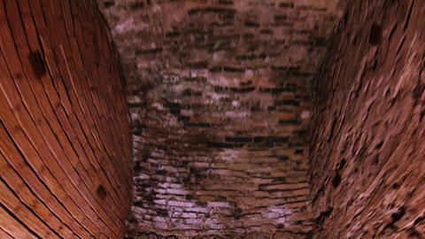 Corridor in the fort, brick walls and arches Footage