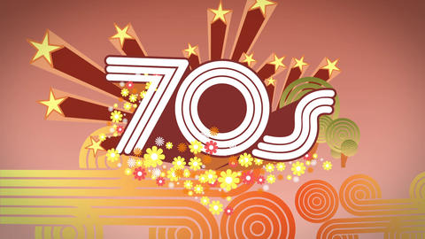 Seventies Background stock footage
