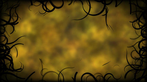 Black Vines Border Background Animation - Loop Yellow Animation