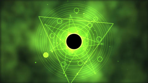 Magic circle, Geometric Background Animation - Loop Green Animation
