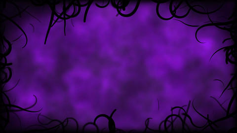 Black Vines Border Background Animation - Loop purple Animation