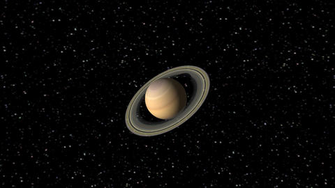 Digital Animation of the Planet Saturn Animation